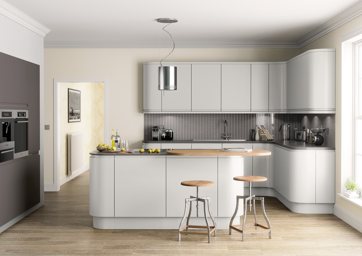 Lucente affordable home improvements for Light grey modern kitchen