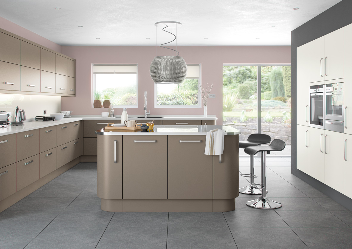 Lusso range affordable home improvements for Grey and brown kitchen