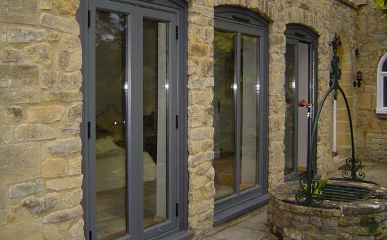 Aluminum french doors affordable home improvements for Plastic french doors