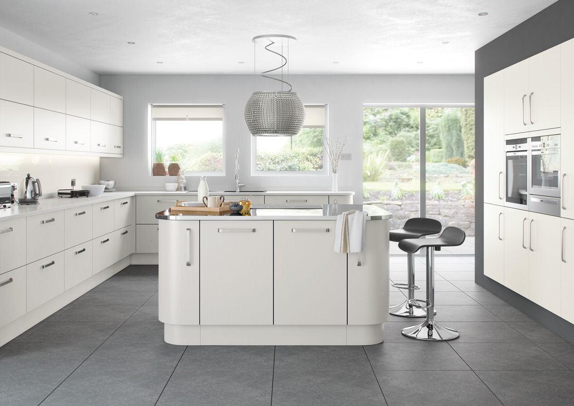 Garage with kitchen cabinets - Lusso Range Affordable Home Improvements
