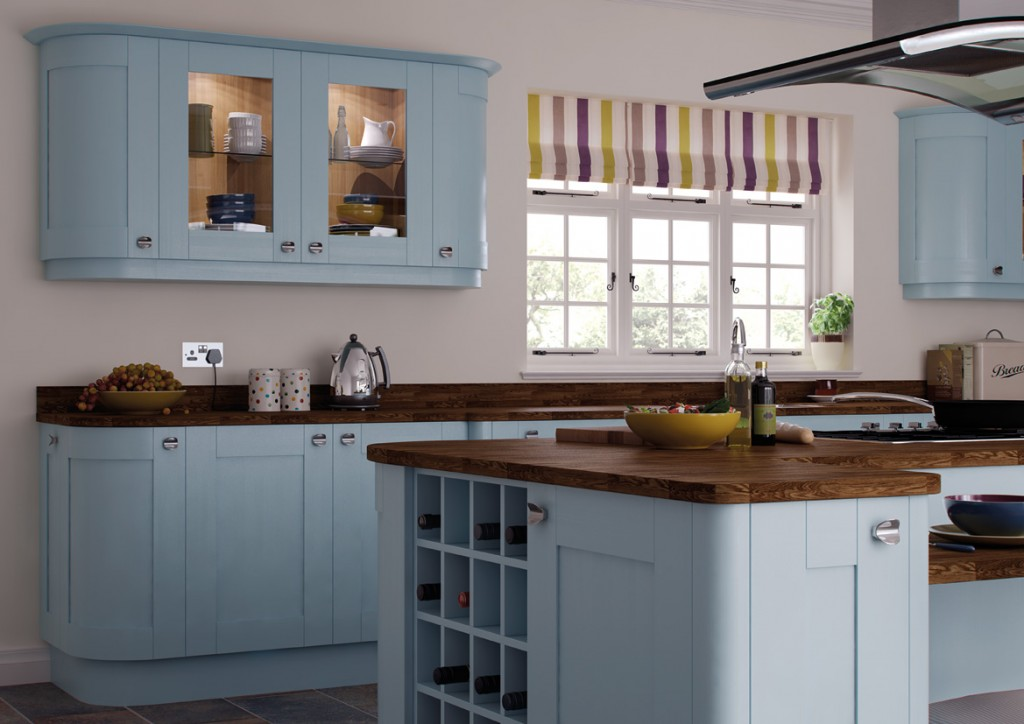 hand painted richmand blue kitchen affordable home improvements