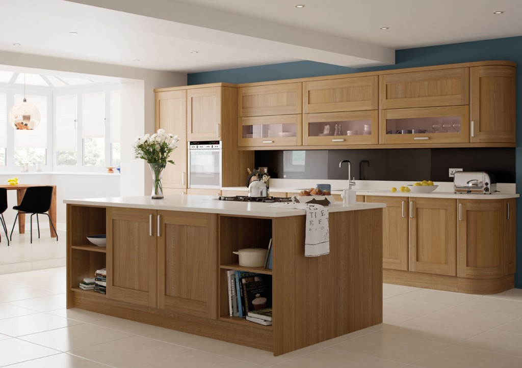 oak kitchen from affordable home improvements leicestershire