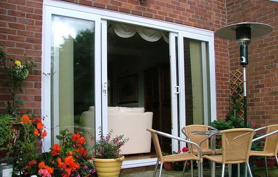 white upvc patio door