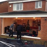 4 section patio door installation in leicester